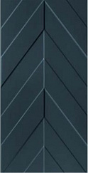4D Chevron Deep Blue Matt Rett 40х80