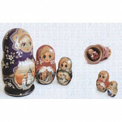 Vetro Decor Matrioshka Blanco 25х40