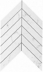 Marvel Carrara Pure Chevron Wall 30,5х25